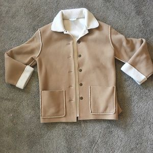 """Camel Colored """"Sherpa"""" Fall Winter Jacket Size S"""